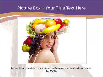 Fruits Over Female Hat PowerPoint Templates - Slide 15