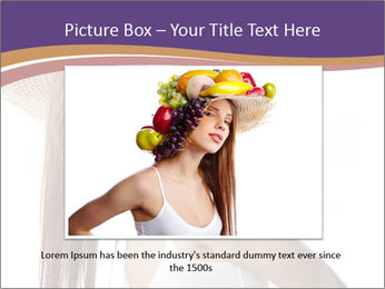 Fruits Over Female Hat PowerPoint Templates - Slide 16
