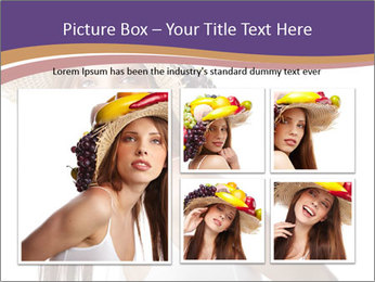 Fruits Over Female Hat PowerPoint Templates - Slide 19