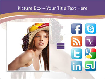 Fruits Over Female Hat PowerPoint Templates - Slide 21