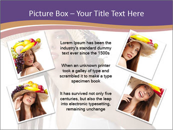 Fruits Over Female Hat PowerPoint Templates - Slide 24