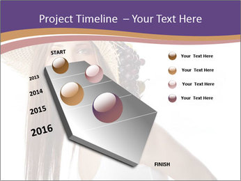 Fruits Over Female Hat PowerPoint Templates - Slide 26