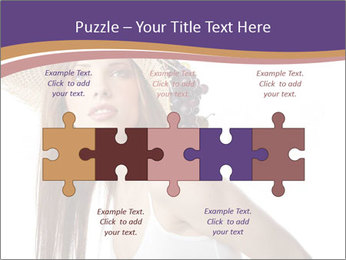 Fruits Over Female Hat PowerPoint Templates - Slide 41