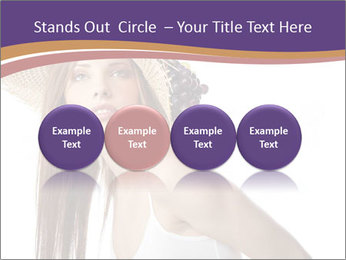 Fruits Over Female Hat PowerPoint Templates - Slide 76