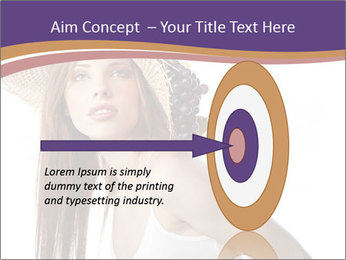 Fruits Over Female Hat PowerPoint Templates - Slide 83