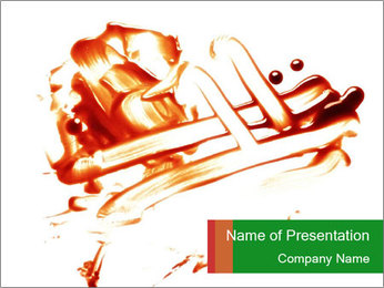 Messy Blood PowerPoint Template - Slide 1