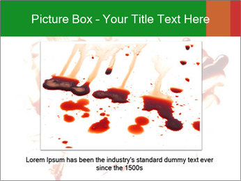 Messy Blood PowerPoint Template - Slide 15