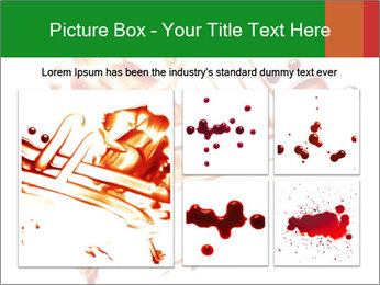 Messy Blood PowerPoint Template - Slide 19