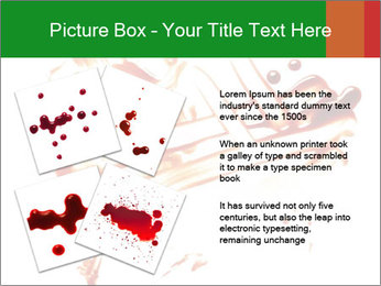 Messy Blood PowerPoint Template - Slide 23