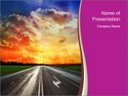 Summer Sunrise and Highway PowerPoint Templates
