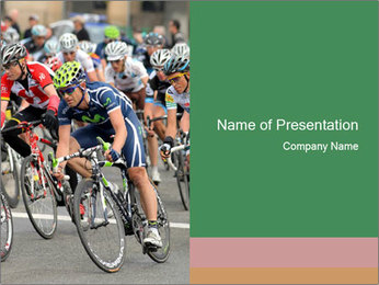 Cyclist Competition PowerPoint Template - Slide 1