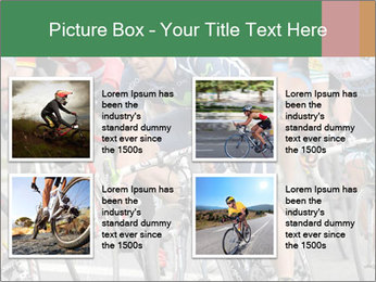 Cyclist Competition PowerPoint Template - Slide 14