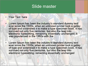 Cyclist Competition PowerPoint Template - Slide 2