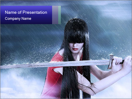 Fantasy Girl PowerPoint Templates