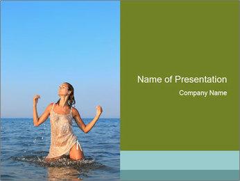 Sexy Greek Woman PowerPoint Template - Slide 1