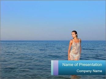 Greek Woman PowerPoint Templates - Slide 1