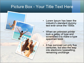 Woman Sleeping on the Beach PowerPoint Template - Slide 17