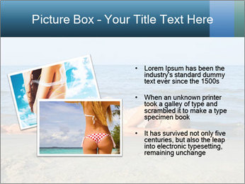 Woman Sleeping on the Beach PowerPoint Template - Slide 20