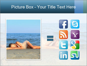 Woman Sleeping on the Beach PowerPoint Template - Slide 21