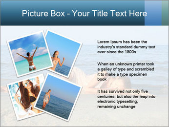 Woman Sleeping on the Beach PowerPoint Template - Slide 23