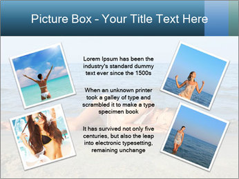 Woman Sleeping on the Beach PowerPoint Template - Slide 24