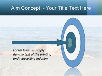 Woman Sleeping on the Beach PowerPoint Template - Slide 83