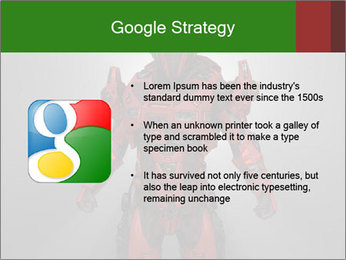 Scary Red Robot PowerPoint Templates - Slide 10