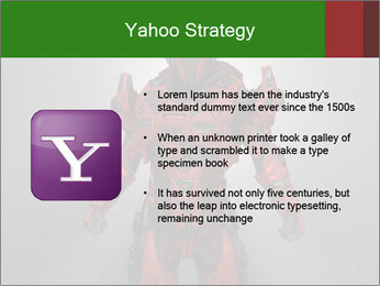 Scary Red Robot PowerPoint Templates - Slide 11