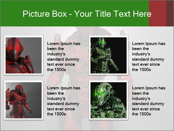Scary Red Robot PowerPoint Templates - Slide 14