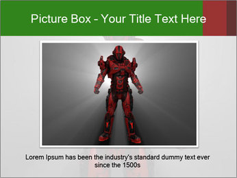 Scary Red Robot PowerPoint Templates - Slide 15