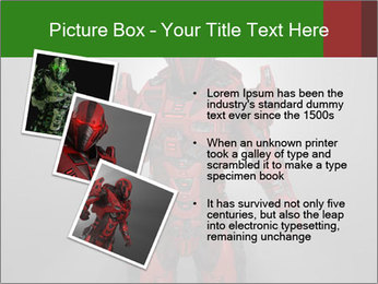 Scary Red Robot PowerPoint Templates - Slide 17