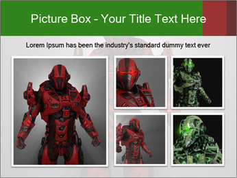 Scary Red Robot PowerPoint Templates - Slide 19