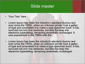 Scary Red Robot PowerPoint Templates - Slide 2