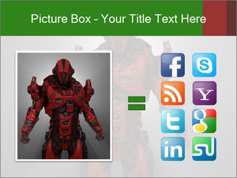 Scary Red Robot PowerPoint Templates - Slide 21