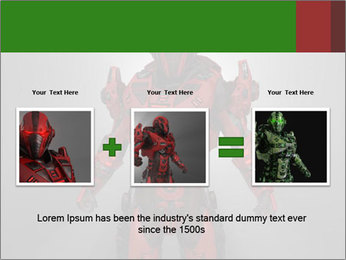 Scary Red Robot PowerPoint Templates - Slide 22