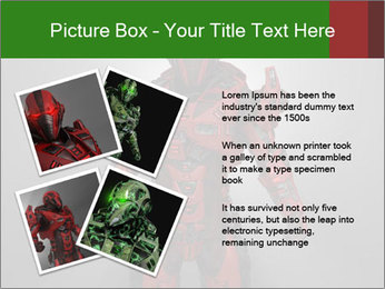 Scary Red Robot PowerPoint Templates - Slide 23