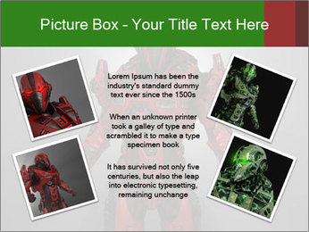 Scary Red Robot PowerPoint Templates - Slide 24