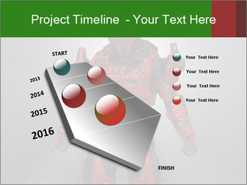 Scary Red Robot PowerPoint Templates - Slide 26
