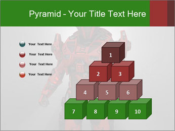 Scary Red Robot PowerPoint Templates - Slide 31