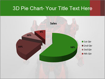 Scary Red Robot PowerPoint Templates - Slide 35