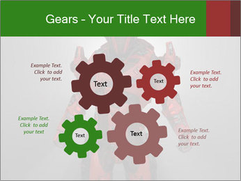 Scary Red Robot PowerPoint Templates - Slide 47