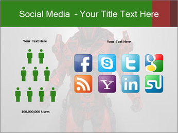 Scary Red Robot PowerPoint Templates - Slide 5