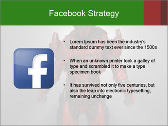 Scary Red Robot PowerPoint Templates - Slide 6