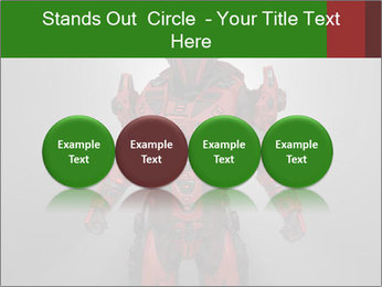 Scary Red Robot PowerPoint Templates - Slide 76