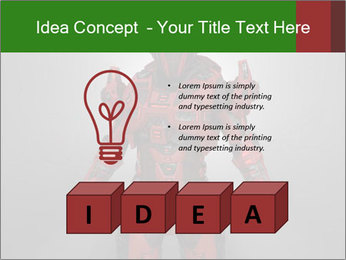 Scary Red Robot PowerPoint Templates - Slide 80