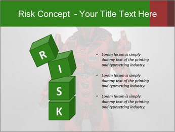 Scary Red Robot PowerPoint Templates - Slide 81