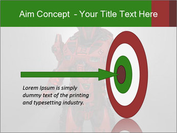 Scary Red Robot PowerPoint Templates - Slide 83