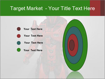 Scary Red Robot PowerPoint Templates - Slide 84