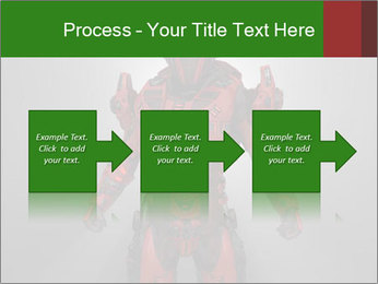 Scary Red Robot PowerPoint Templates - Slide 88