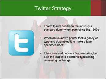 Scary Red Robot PowerPoint Templates - Slide 9